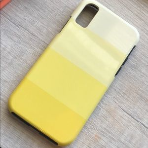 Society six yellow ombré iPhone X/xs case